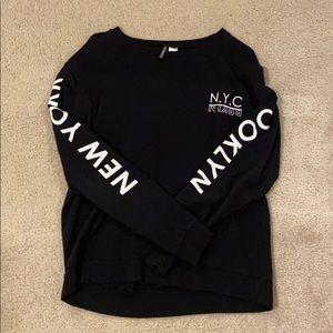 H&M Black NYC long sleeve